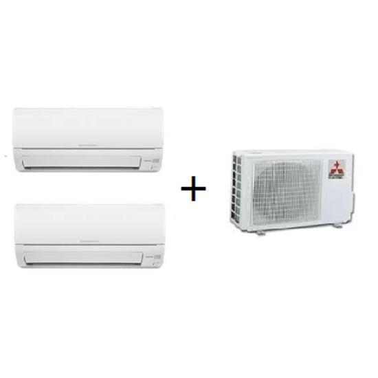 mitsubishi multi split 2x1 msz hj 9000 12000 btus hidrofase loja de ar condicionado. Black Bedroom Furniture Sets. Home Design Ideas